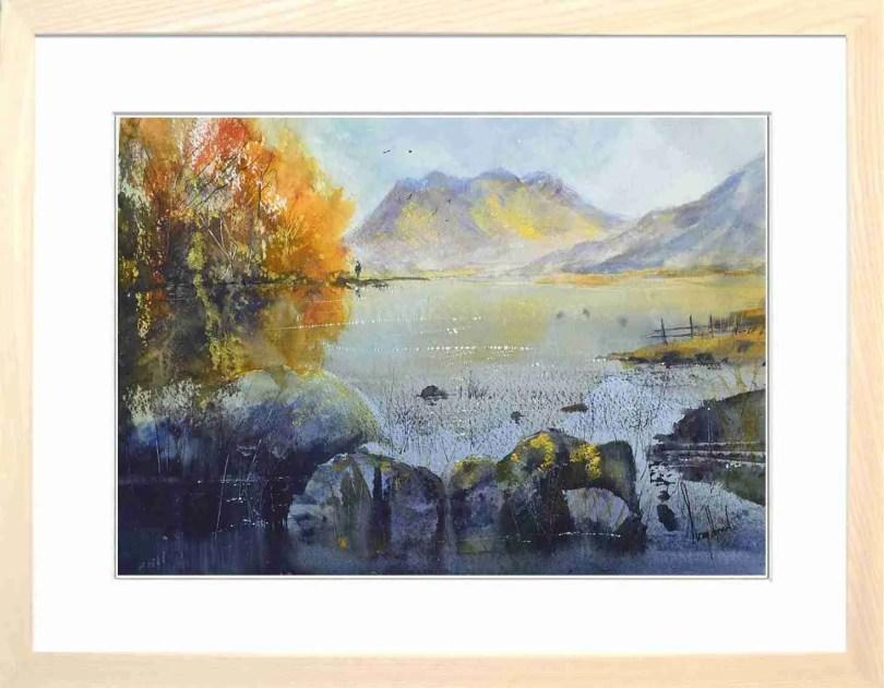Framed Painting Autumn At Blea Tarn