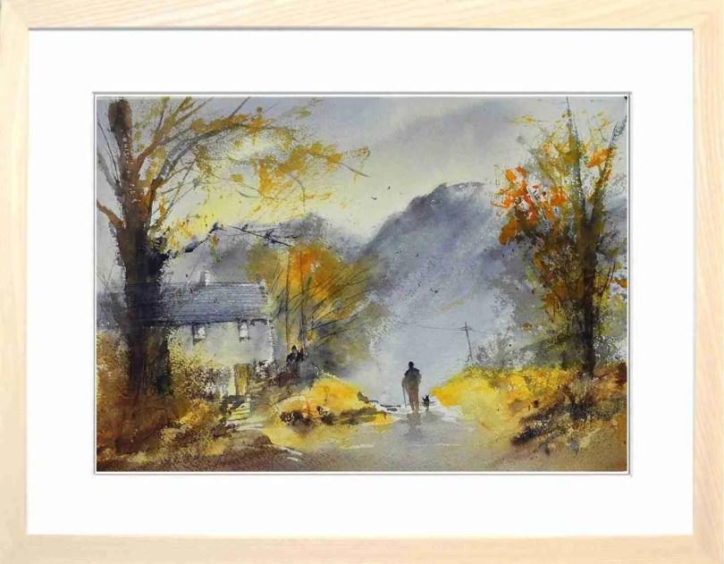 Framed Painting Autumn In Lakeland I