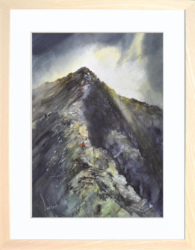 Framed Painting Break In The Clouds Sharp Edge