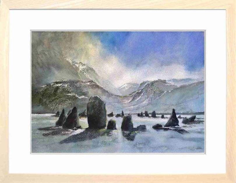 Framed Painting Castlerigg Stone Circle Cumbria