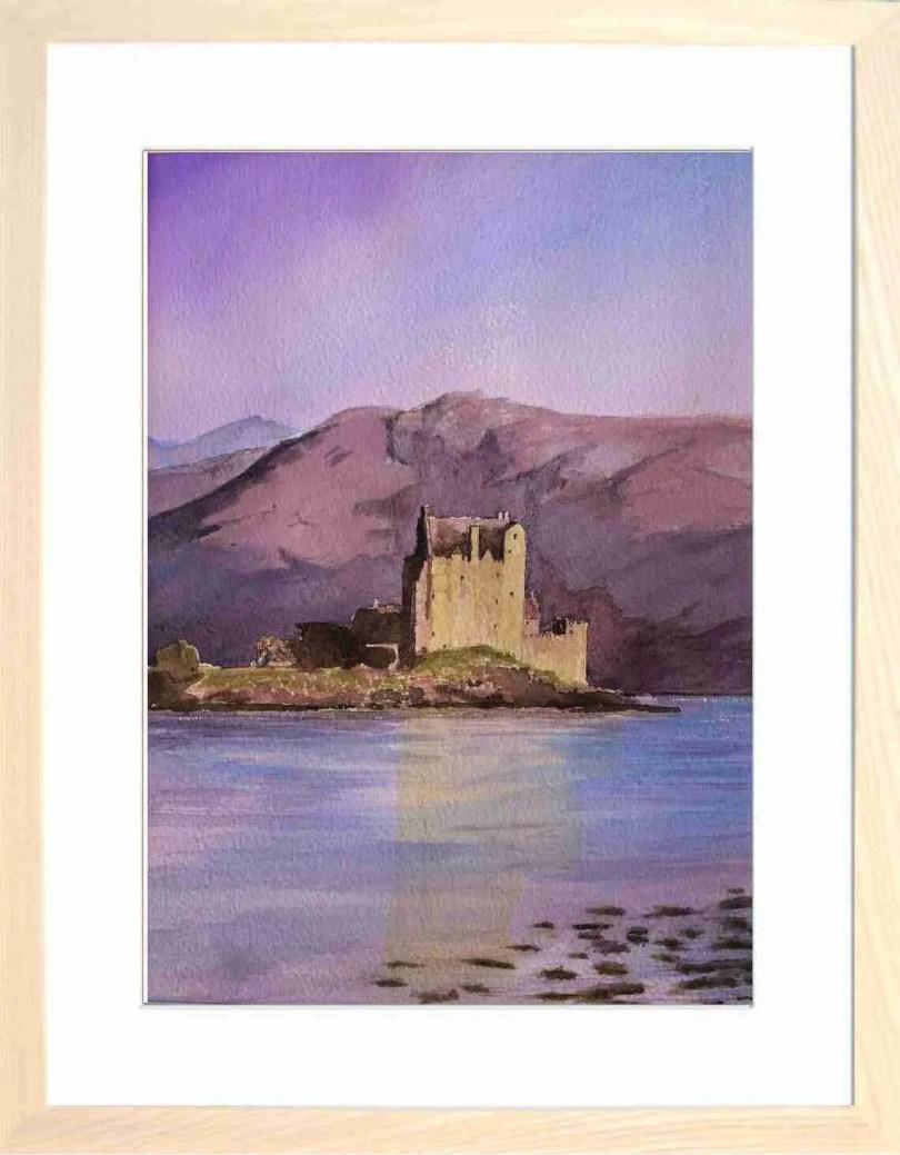 Framed Painting Eilean Donan Castle Kyle Of Loch Alsh