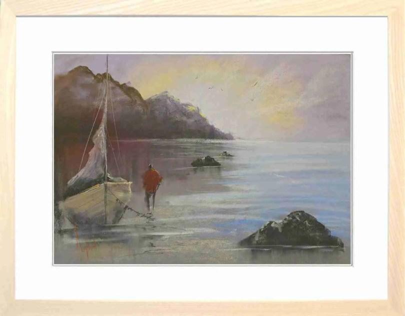 Framed Painting Evening Tide IV