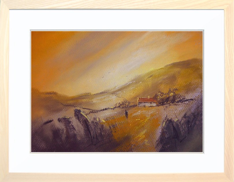 Framed Painting Fields Of Gold II