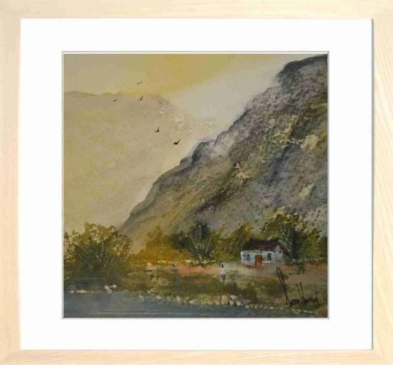 Framed Painting Highland Cottage V