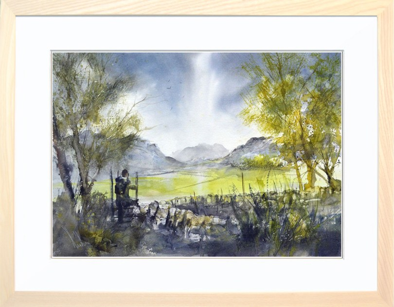 Framed Painting Last Stile Of The Day II