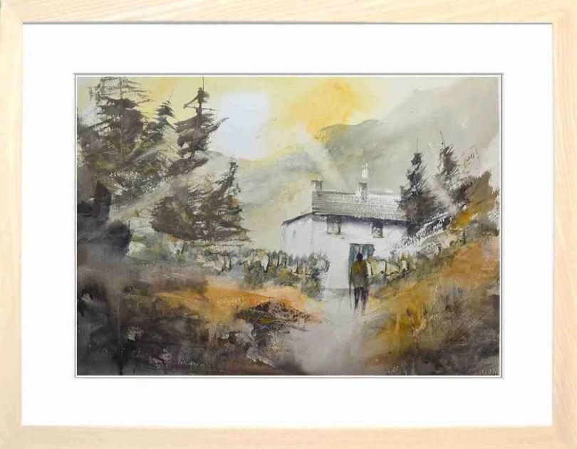 Framed Painting Morning Walk II