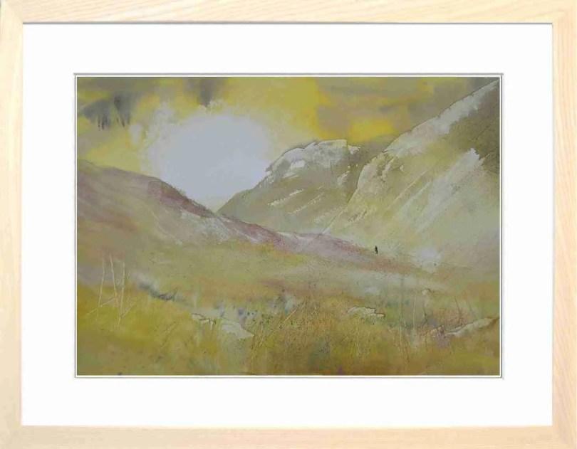 Framed Painting Quiet Valley I