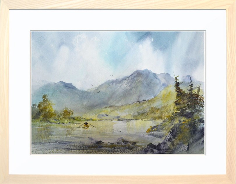 Framed Painting Row On The Tarn