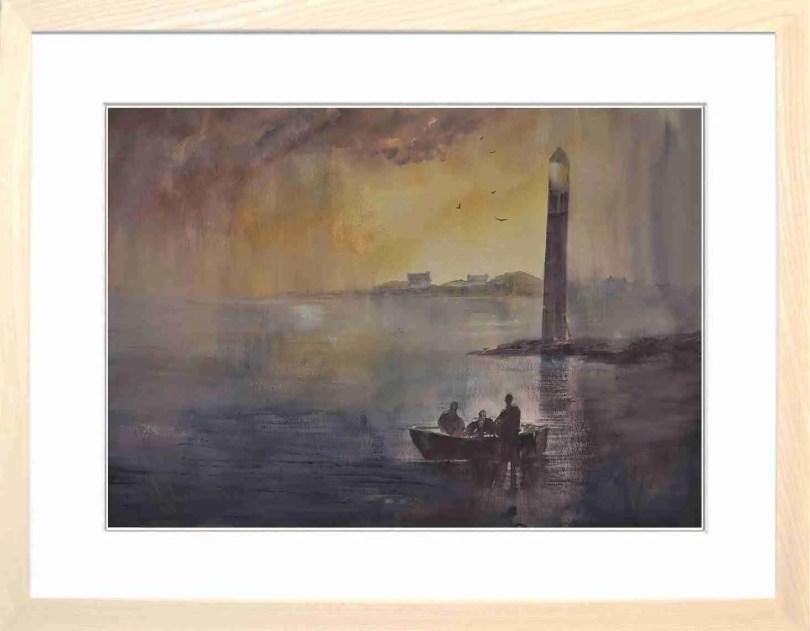 Framed Painting Storm Over Rampside I