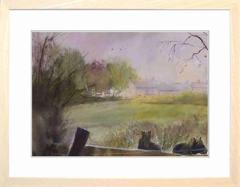 Framed Painting Thorpe Derbyshire