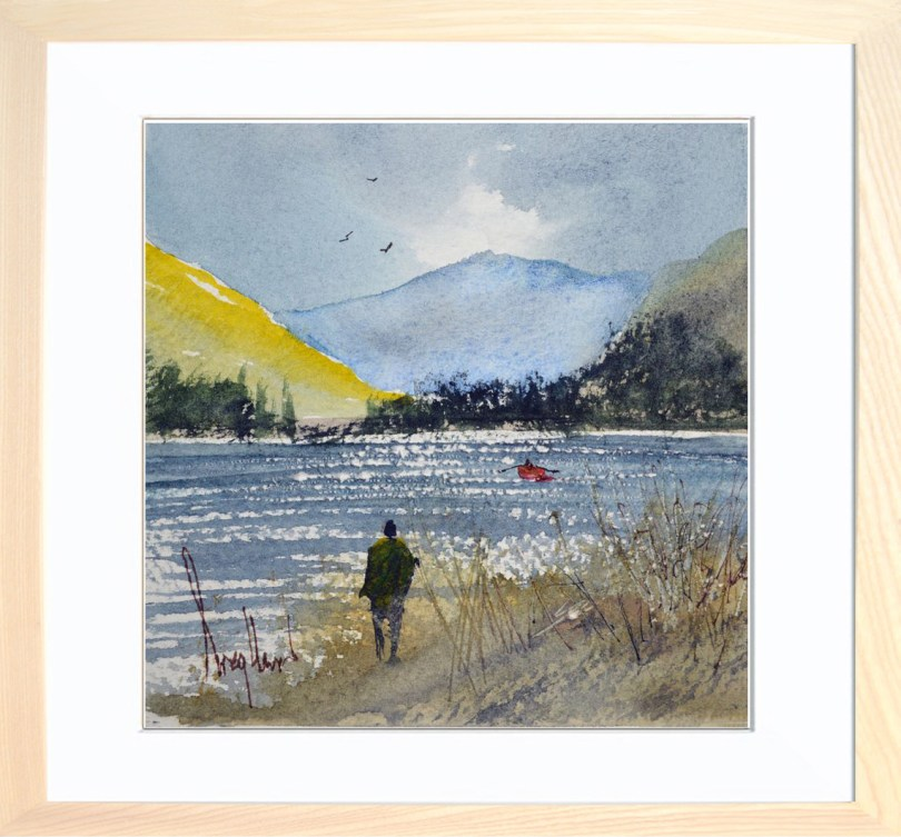 Framed Painting Windy Day At The Loch