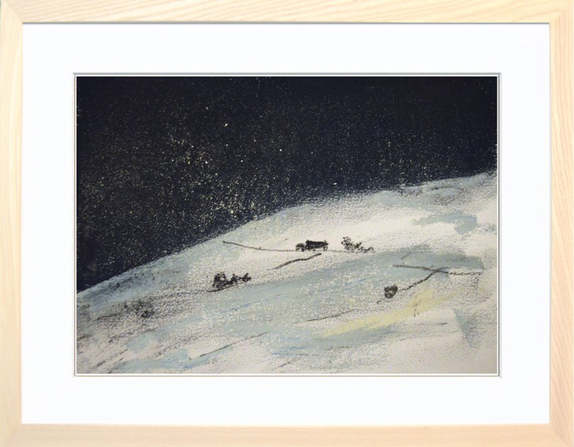 Framed Painting Winter In The Dales