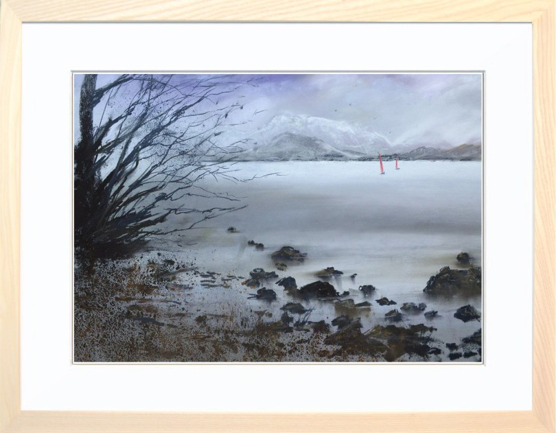 Framed Painting Winter On Ullswater II