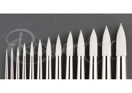SYNTHETIC BRISTLE BRUSH - IVORY POINTED ROUNDS
