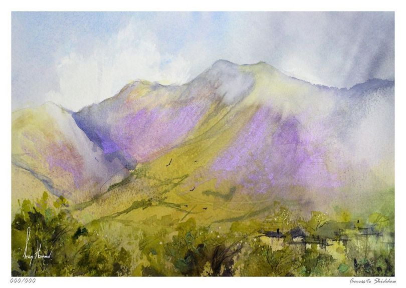 Limited Edition Print Across To Skiddaw