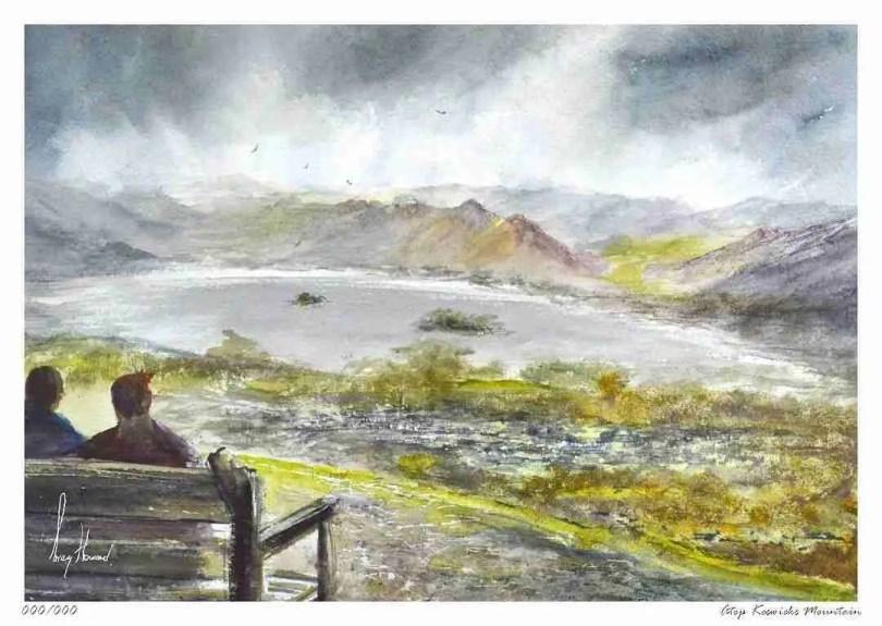 Limited Edition Print Atop Keswicks Mountain