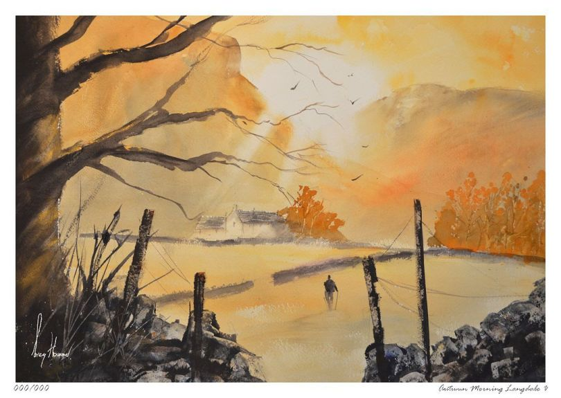 Limited Edition Print Autumn Morning Langdale V