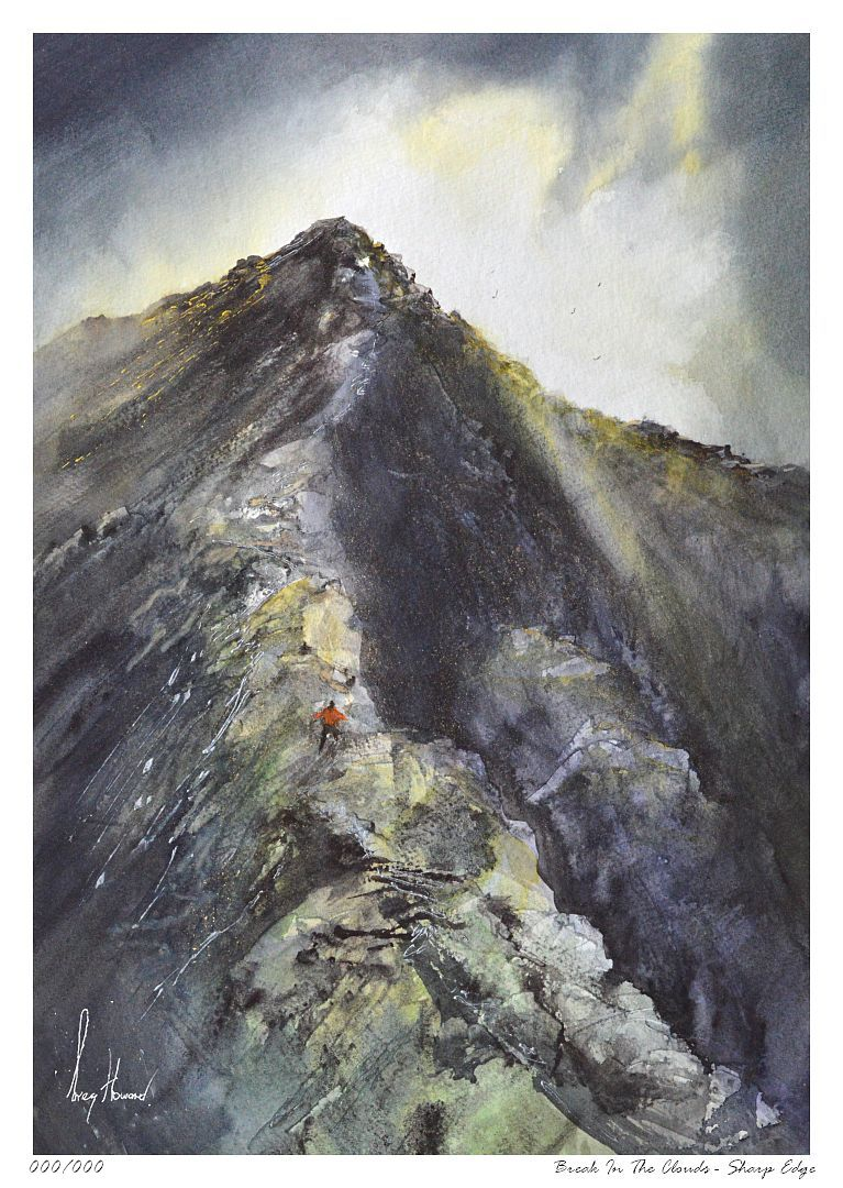 Limited Edition Print Break In The Clouds Sharp Edge