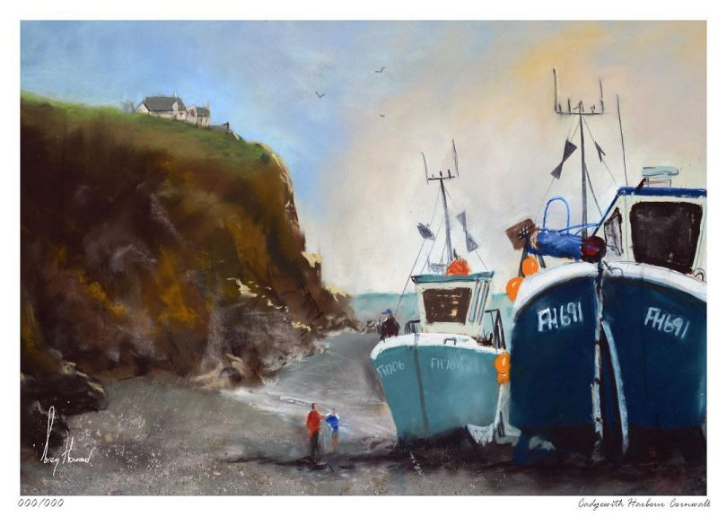 Limited Edition Print Cadgewith Harbour Cornwall
