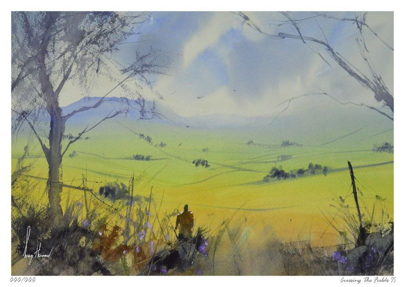 Limited Edition Print Crossing The Fields II