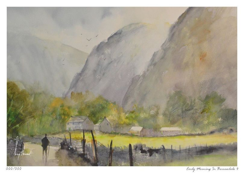 Limited Edition Print Early Morning In Borrowdale V