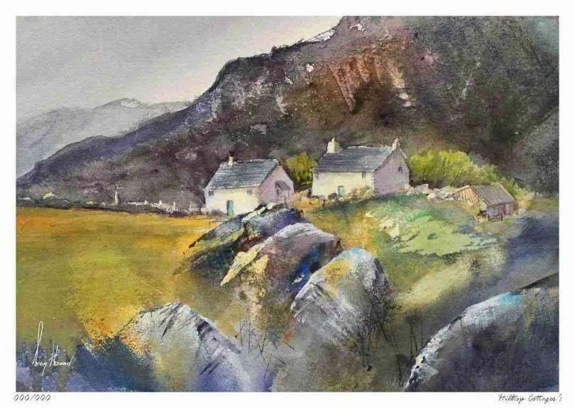 Limited Edition Print Hilltop Cottages I