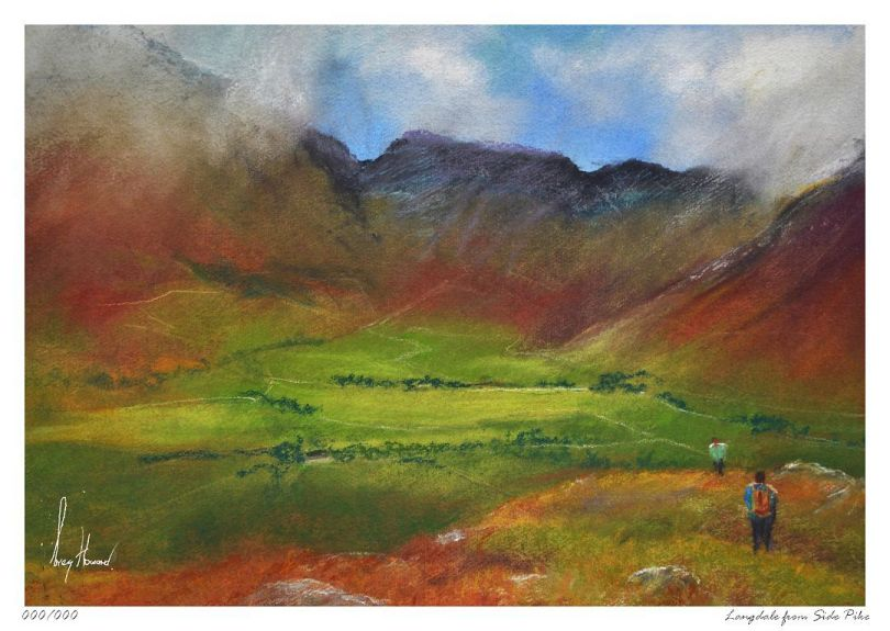 Limited Edition Print Langdale From Side Pike