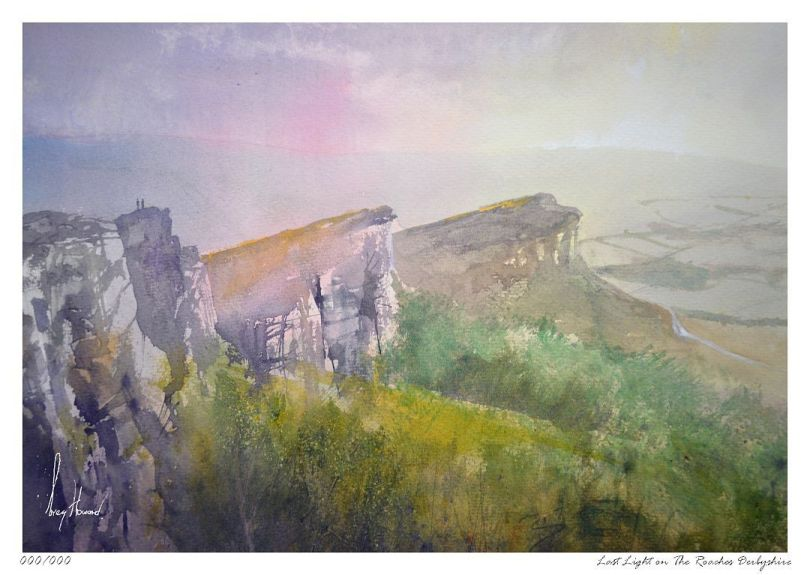 Limited Edition Print Last Light On The Roaches Derbyshire
