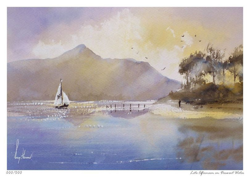 Limited Edition Print Late Afternoon On Derwent Water