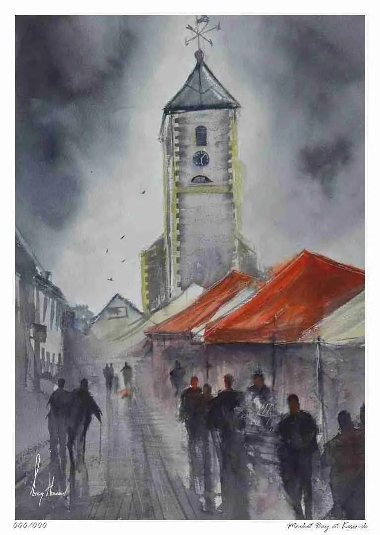 Limited Edition Print Market Day At Keswick