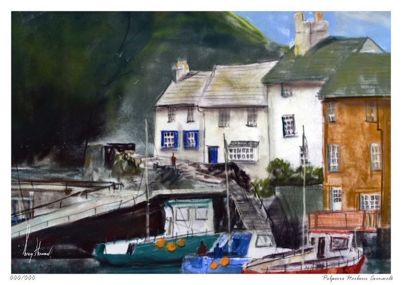 Limited Edition Print Polperro Harbour Cornwall