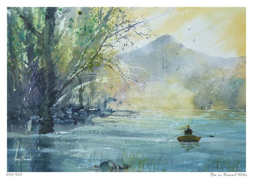 Limited Edition Print Row On Derwent Water