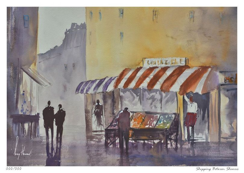 Limited Edition Print Shopping Between Showers