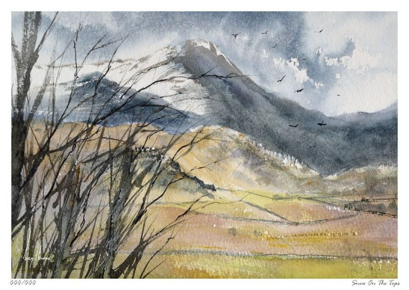 Limited Edition Print Snow On The Tops