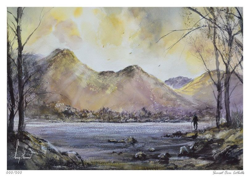 Limited Edition Print Sunset Over Catbells
