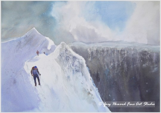 Striding Edge In The Snow Helvellyn