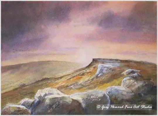Sunset Over Stanage Edge Derbyshire 3.jpg