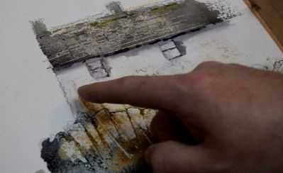 Tuition Learn To Add Texture To Your Buildings In Watercolour