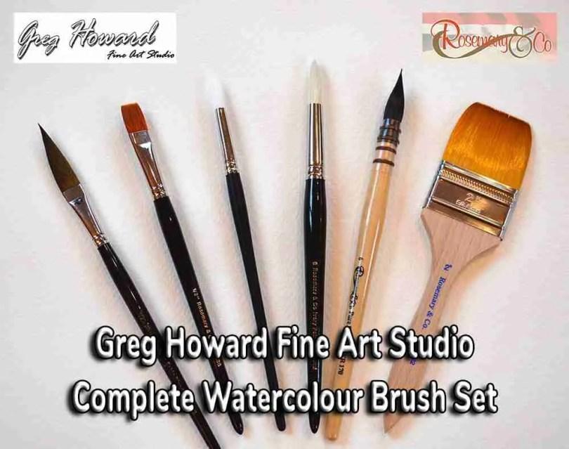 Greg Howard Complete Landscape Watercolour Brush Set 1000px