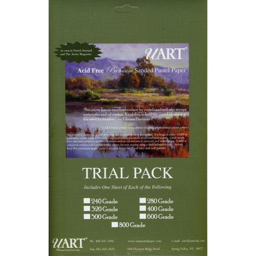 uart sanded pastel paper trial pack 6 x 11in greg howard fine