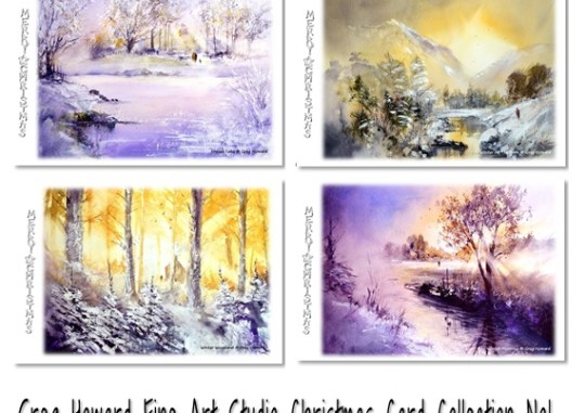 Greetings cards archives greg howard fine art studio original greg howard fine art studio xmas card collection one m4hsunfo