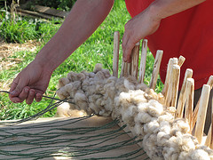 Tightening Strings After Pushing Wool Onto Them
