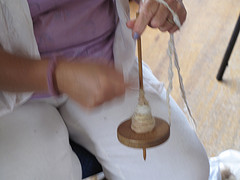 Spinning With The Drop Spindle