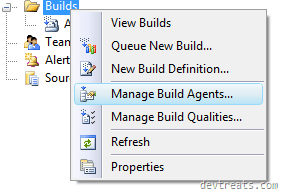 Right Click on Builds Folder