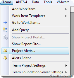 Manage Alerts Team DropDown