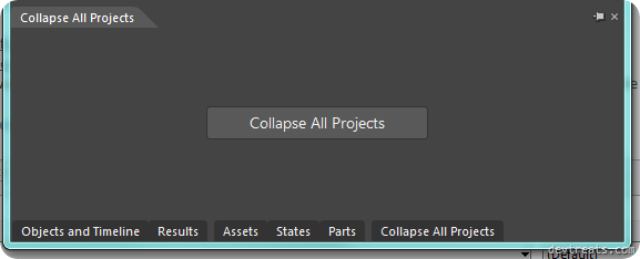Collapse All Project Window Expanded