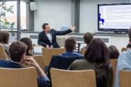 Leading workshop on international politics during AOFE 2015 by Warsztat Innowacji Społecznych and Adenauer Stiftung (2015)