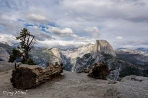 Le parc de Yosemite et le fameux Half Dome depuis glacier point.