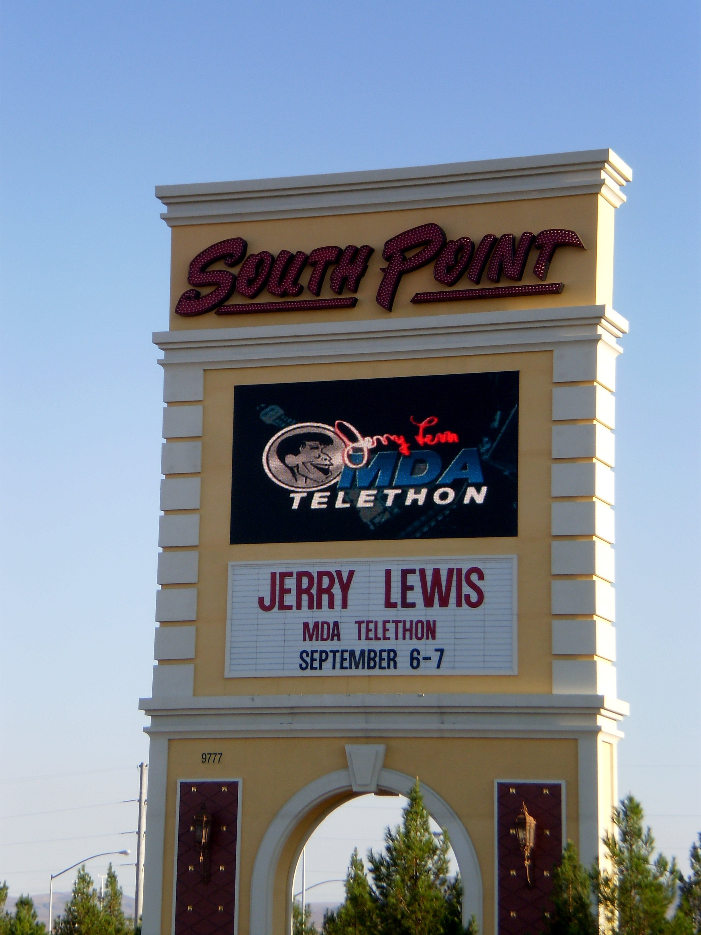 South Point Casino, Host Venue of the Jerry Lewis Telethon