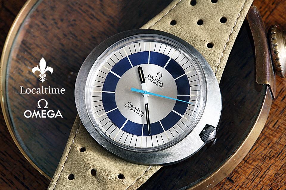 NOS 1970's Omega Genève Dynamic Ref. 166.0039 'Blue Bulls-Eye' – Automatic Cal. 552